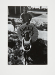 Alice Wells and Steve with Shell sign; Fichter, Robert; ca. 1967; 1972:0256:0001