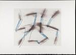 Untitled [Brown and blue stalks]; Wood, John; 1980; 2000:0104:0004