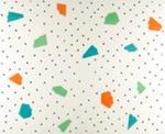 Untitled [Colored patterns and black flecks]; Nelsen, Joan; ca. 1981; 1981:0123:0029