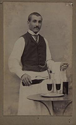 Untitled [portrait waiter]; Numa Juliès; Undated ; 1994:0004:0014