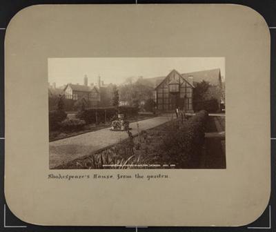 Shakespeare's House, Stratford-on-Avon, From the Garden; Wilson, George Washington; ca. 1870; 1976:0004:0002