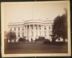 The White House (rear view) of Executive Mansion. Residence of the Presidents of the US; ca. 1900; 1976:0003:0015