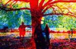 Untitled [Large tree and three figures]; Swedlund, Charles; ca. 1973; 1979:0055:0003