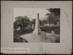 Monument to Governor Bradford, Burial Hill, Showing Also the Graves of His Family; Burbank, A. S. (Alfred Stevens); 1892; 1977:0073:0022