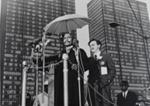 Untitled [Speaker at podium]; Fernandez, Benedict J.; c. 1967; 1971:0365:0001