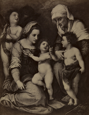 Madonna and Child with St Elisabeth, the Infant St John, and Two Angels; Del Sarto, Andrea; Hanfstaengl, Franz; undated; 1977:0028:0001