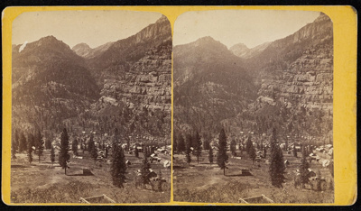 [Stereographic view of Ouray, Colorado]; Unknown; ca. 1875; 1975:0025:0690