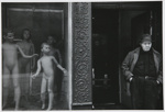 [Untitled, man standing next to naked-boy mannequin's in department store window].  ; McLoughlin, Michael; c.a. 1965; 1974:0023:0005