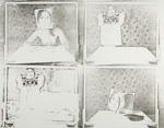Untitled [Dress, woman, and photographs]; Lyons, Joan; 1974; 1975:0006:0009