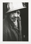 Untitled, [Man wearing a hard hat].; McLoughlin, Michael; c.a. 1965; 1973:0043:9999