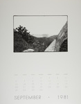 [Page Nine of 1981 Calendar - September]; Coppola, Richard; 1981; 2000:0141:0009