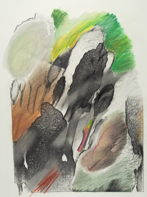 Untitled [Leaves and colors]; Lyons, Joan; ca. 1970s; 1987:0090:0011