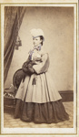 [Studio portrait of a young woman in what appears to be Asian dress.]; A. Hickcox; ca. 1880; 1975:0031:0228