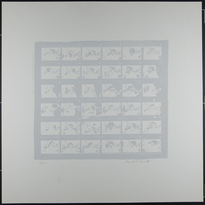 Untitled [Contact sheet photos of Sonia Sheridan] ; Barsotti, Frank; 1970; 1972:0096:0017