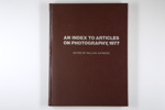 An index to articles on photography, 1978; Johnson, William S.; 0 89822 010 4; Z232.5 .V834 Jo-An (copy 1)