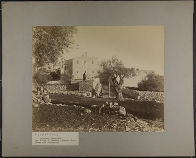 Couvent de Saint-Elie sur la route de Bethlehem Palestine (a convent between Bethlehem and Jerusalem). ; Bonfils, Félix; ca. 1870; 1977:0022:0003