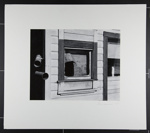 [newspaper in window of old building]; Freemesser, Bernard; 1969; 1982:0109:0001