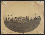 [Oval image of Jones guards, Boxford camp, 47th Massachusetts Voluntary Militia Infantry]; Cushman, Capt. A.S.; 1862; 1975:0034:0004