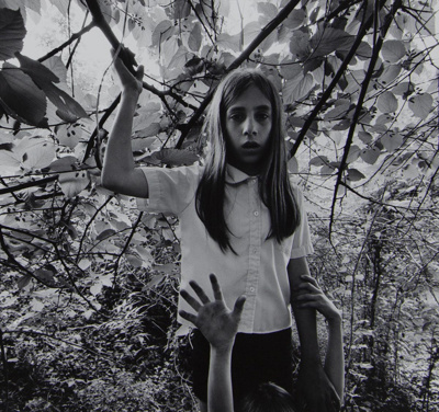 Untitled [Girl holding branch]; Riss, Murray; ca. 1970s; 1972:0194:0022
