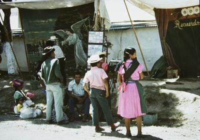 Photographers Set Up With Angel Backdrop, Huehuetenango, Guatemala; Parker, Ann; ca. 1973; 2009:0056:0006