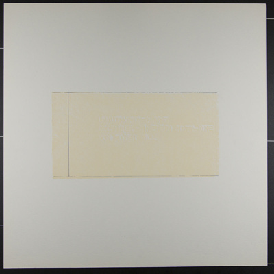 Untitled [Unauthorized Art...]; Gill, Don; 1970; 1972:0096:0001