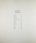 Portfolio One Title Page; Prather, Winter; ca. 1970; 1981:0025:0001