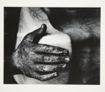 [Untitled, image of stone hand resting on stone]; Wells, Alice; ca. 1965; 1972:0287:0060