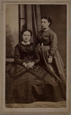 Untitled [Portrait of Two Women]; E. Lecocq; Undated ; 1975:0031:0135
