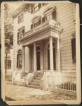 Untitled, (Facade and front steps of colonial dwelling). ; Moulton-Erickson Photo Co.; c.a. 1890; 1977:0074:0008