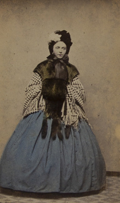Untitled [Hand-colored studio portrait of a woman]; Moore Brothers; ca. 1870; 1975:0031:0224