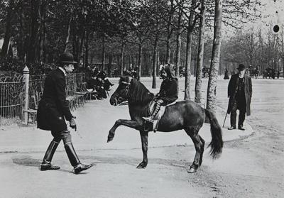 Untitled [Child riding horse]; Lartigue, Jacques-Henri; undated; 1977:0091:0005