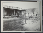 [Untitled, Civil War Re-enactor's sitting on a wood deck covered in hay]. ; Hendee, Keith F.; 1981; 1981:0098:0009