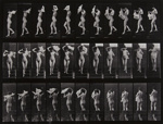 Woman Walking Downstairs, Throwing Scarf over Shoulders; Muybridge, Eadweard; c. 1884; 1971:0119:0001