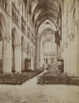 Nave of the Choir Cathedral, (Interior view of the Chartres Cathedral, in France). ; Neurdein, Frères; c.a. 1890s; 1979:0175:0005