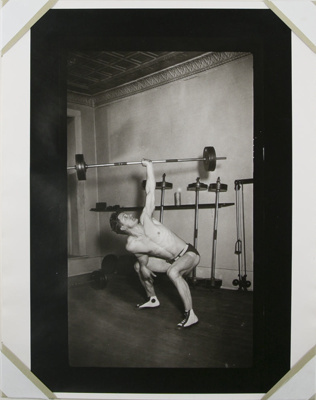 Untitled [Lifting body builder]; Gay, Arthur; ca. 1920s -- 1940s; 1981:0013:0020