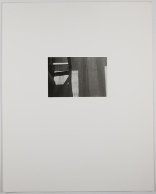 Untitled [Shadow on floor]; Edelstein, Mura; undated; 1982:0094:0003