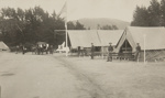 Red Cross Hospital at Presidio (nurse standing with soldiers in front of medical tents). ; Chadwick, Harry W. (1860-1933); 1906; 1978:0151:0025