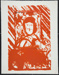 [Red streaks that seem like rain]; Fichter, Robert; ca. 1960-1970; 1983:0059:0001b