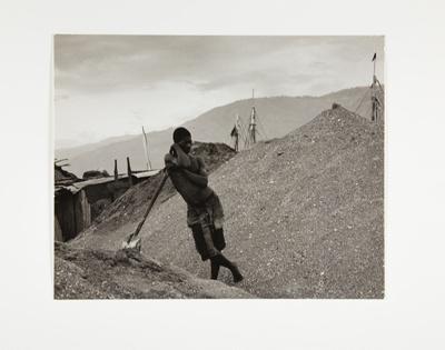 Man Leaning on Shovel; Rosenblum, Walter; 1959; 1973:0026:0014