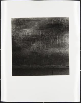 Untitled [Wall with graffiti]; Cooper, John; ca. 1983; 1983:0016:0007