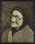 [Elderly woman with glasses, head scarf and shawl]; Hahn, Alta Ruth; ca.1930; 1982:0020:0001