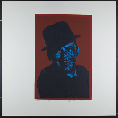Untitled [Frank Sinatra on a red field]; Paschke, Ed; 1970; 1972:0096:0038