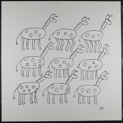 Untitled [Nine abstract animals]; DeGraff, Sherwin; 1970; 1972:0096:0011