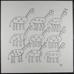 Untitled [Nine abstract animals]; DeGraff, Sherwin; 1970; 1972:0096:0011