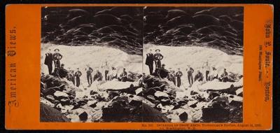 No. 151 Interior of Snow Arch, Tuckerman's Ravine, August 14, 1862. Mt. Washington, N.H. ; John P. Soule; 1862; 1975:0025:0560