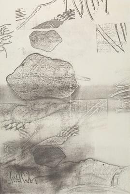 Untitled [Biomorphic shapes]; Lyons, Joan; 1974; 1975:0006:0004