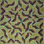 Untitled [Repeating two-color geometric shapes]; Murata, Hiroshi; 1975; 1990:0026:0001