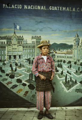Country Boy With Cityscape, Solola, Guatemala; Parker, Ann; 1972; 2009:0056:0014