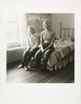 Untitled [Girls on bed]; Kaida Knapp, Tamarra; ca. 1977; 2011:0025:0015