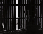 Untitled [Wooden Barn with One Post Missing]; Bretz, Robert L.; 2000:0076:0002